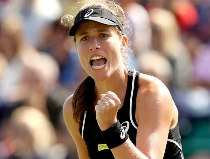 Nottingham Open Johanna Konta defeats compatriot Heather Watson to reach quarterfinals