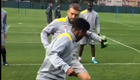 VIDEO: Sterling embarrasses Lambert in training
