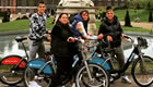 Photo: Tottenham star Erik Lamela enjoys cycle ride in London with family