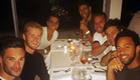 Photo: Erik Lamela all smiles during Tottenham team meal in Sydney