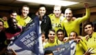 Spurs stars celebrate reaching League Cup final