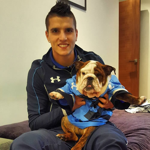 Photo of Erik Lamela & his  Dog