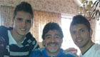 Photo: Tottenham's Lamela uploads snap with Aguero and Maradona