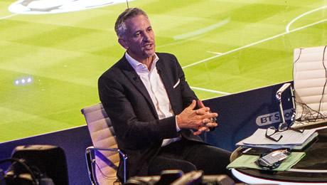 Gary Lineker reacts to Trent Alexander-Arnold's goal in Liverpool v Hoffenheim