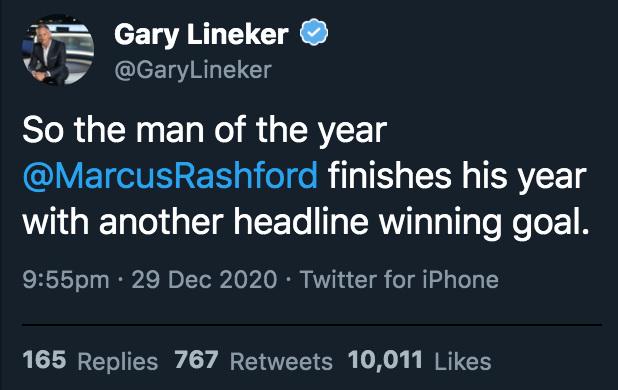 Gary Lineker Marcus Rashford Wolves