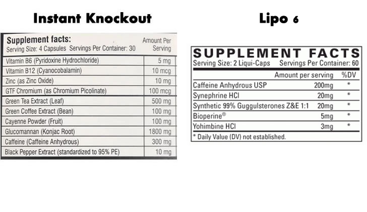 lipo 6 vs instant knockout