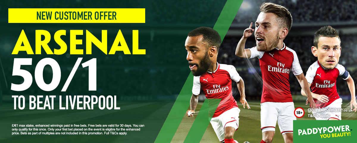 Liverpool v Arsenal: 50/1 enhanced odds, kick-off time, prediction