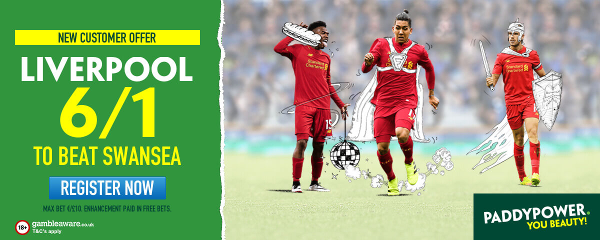 liverpool to beat swansea enhanced odds
