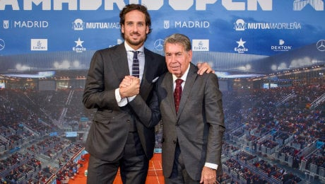 Manolo Santana to mark 80th birthday by handing reins of Mutua Madrid Open to Feliciano Lopez