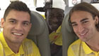 Photo: Mario Balotelli chills with Liverpool duo ahead of Basel trip