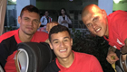Lovren joins his Liverpool 'brothers' for a snap