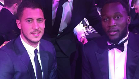 Photo: Eden Hazard pictured with reported Chelsea transfer target