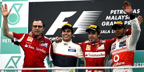 malaysian grand prix 2012 podium