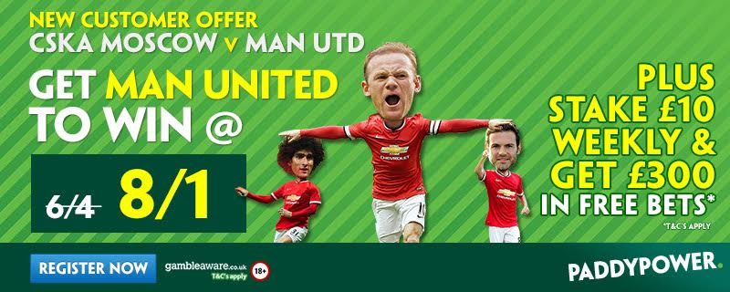 man utd enhanced odds CSKA moscow