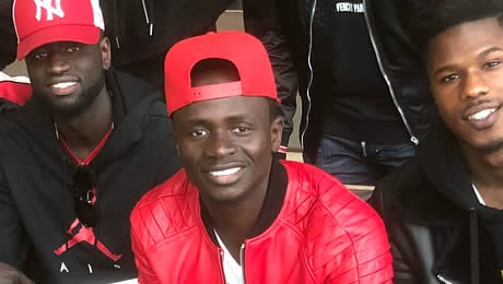 Photo: Sadio Mane all smiles with reported Chelsea FC transfer target