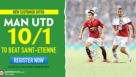 Saint-Etienne v Man United: Win £100 from £10 on Man United, TV channel and prediction