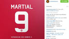 Photo: Man Utd confirm Anthony Martial will wear No9 shirt