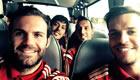 Photo: Juan Mata all smiles with Arsenal and Chelsea stars