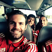 Mata all smiles with Cazorla and Silva