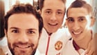 Mata and Di Maria all smiles for new sponsor launch