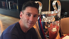 Messi has breakfast with Champions League trophy