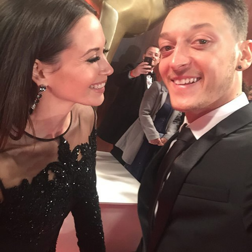 mesut ozil with mandy capristo