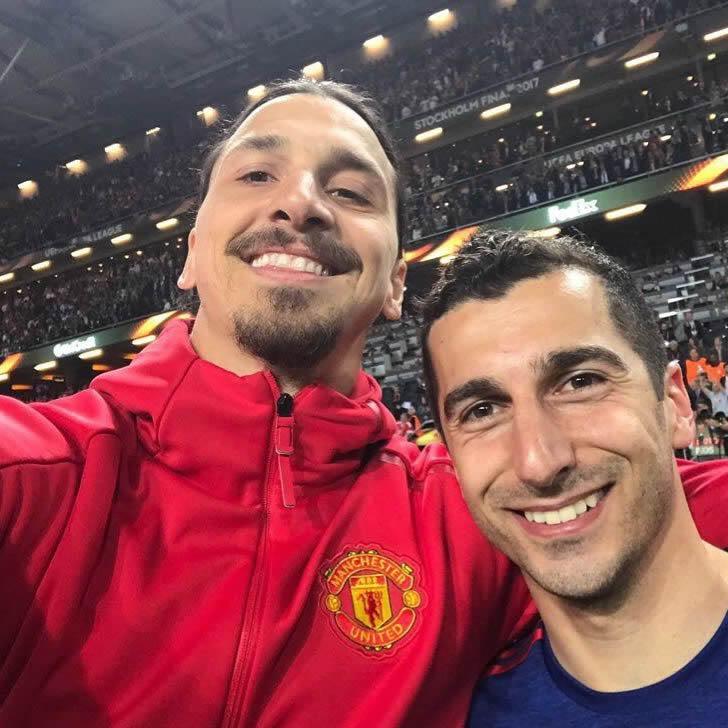 Henrikh Mkhitaryan and Zlatan Ibrahimovic