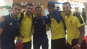 Photo: New Man Utd signing unhappy despite meeting old friends