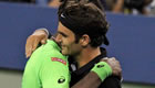 Federer beats Monfils in midnight drama