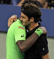 US Open 2014: Federer survives match points and Monfils in midnight drama