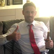 Monreal enjoys beer after beating Man Utd