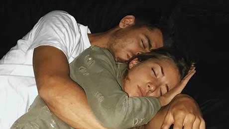 Photo: Alvaro Morata catches up on sleep with wife ahead of Chelsea v Stoke