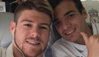 Photo: Alberto Moreno snaps selfie with Liverpool starlet ahead of Bordeaux flight
