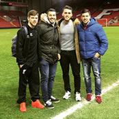 Moreno poses on Anfield pitch after win