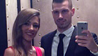 Schneiderlin poses with his stunning girlfriend