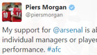 Morgan hits back at Arsenal legend on Twitter