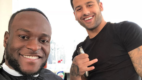 Photo: Victor Moses shows off new haircut ahead of Chelsea FC v Barcelona