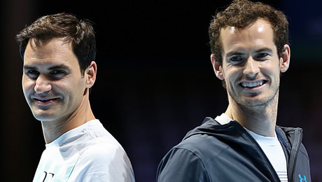 Roger Federer and Andy Murray delight Glasgow, but Murray keeps big news under his hat