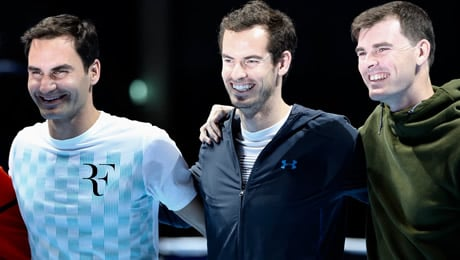 Andy Murray Live raises over £700,000 for Unicef and Sunny-sid3up, as Federer praises rival's return