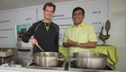Murray tries his hand at cooking a curry