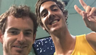 Photo: Andy Murray mocks Thanasi Kokkinakis's gym wear