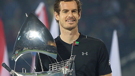 Andy Murray sails to first title of year in Dubai, and admits: It's been a great run