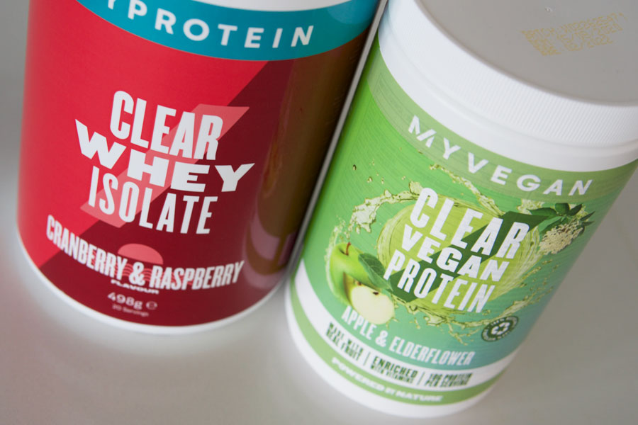 Myprotein Clear Whey Isolate and Clear Vegan Protein