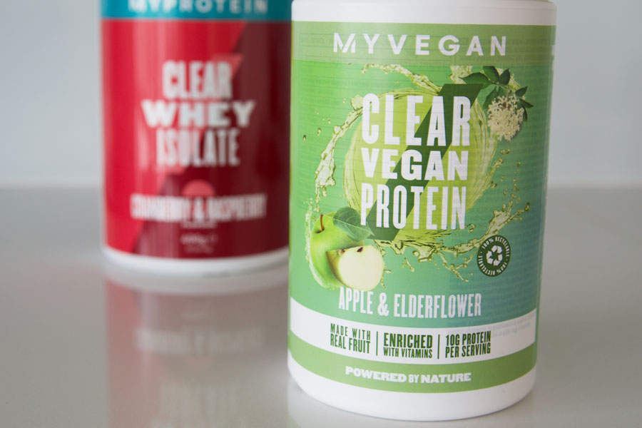 Myprotein Clear Whey Isolate Protein and Clear Vegan Protein