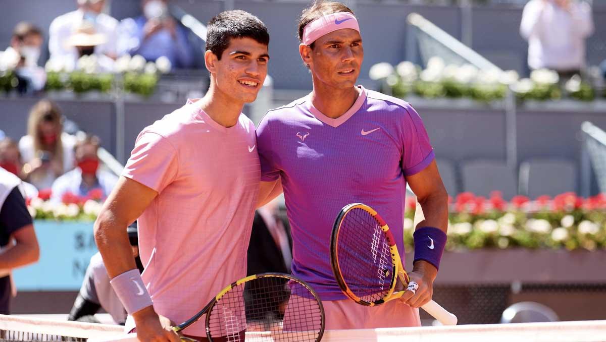 Carlos Alcaraz and Rafael Nadal (Photo: Mutua Madrid Open)