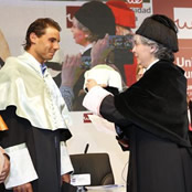 Nadal given honorary doctoral degree in Madrid