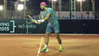 Nadal practices at night to avoid Rio heat