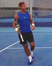 Photos: Rafael Nadal trains until dusk on road to recovery from wrist injury