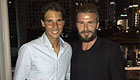 Photo: Man Utd legend David Beckham chills with tennis star Rafael Nadal