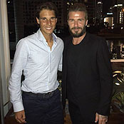 Beckham hangs out with Nadal in Miami